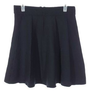 CYNTHIA ROWLEY Pleated Fall Mini Skirt A-Line